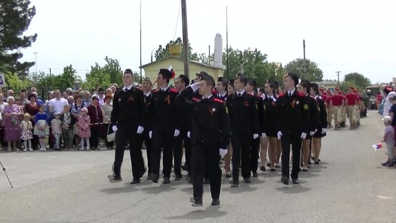 Парад в честь 73-й годовщины со Дня ПобедыНаши дети -казачата с достоинством берегут память о наших защитниках Отечества!