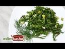 Очень простой салат из свекольных листьев свекольной ботвы с зеленью и яйцом