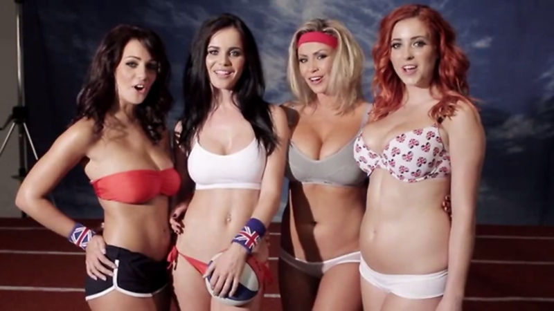 Holly Peers - Nuts 2012-07 The Boob Olympics Olympic team Emma Glover Leah Francis Lucy V