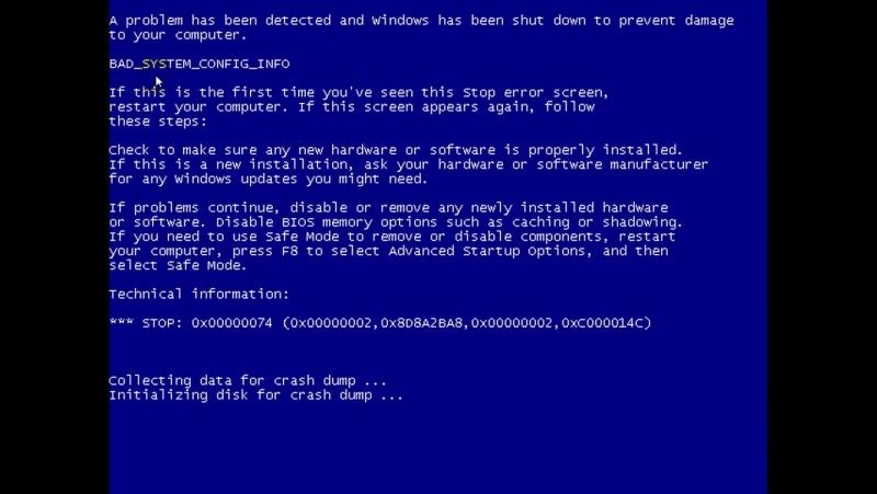 Как увидеть BSoD (синий экран смерти) Выключение автоматической перезагрузки при сбое системы. Чтение кода ошибки.