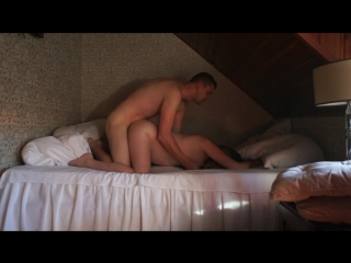 Great loud bed morning hotel sex whit pregnant wife (short version) prt.1