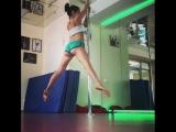 Как работают мышцы в Pole Dance. Танцы в Кургане.