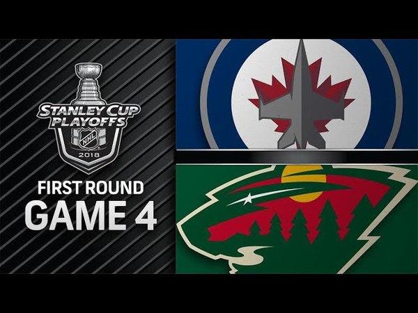 Winnipeg Jets vs Minnesota Wild – Apr. 17, 2018   Game 4   Stanley Cup 2018. Обзор