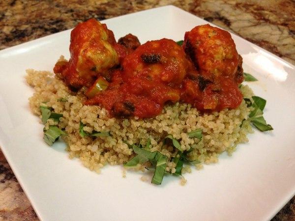 Полезный рецепт запеченных турецких фрикаделек и киноа. Turkey Meatball Quinoa Recipe - HASfit Healthy Dinner Recipes - Baked Turkey Meatballs Recipe » Freewka.com - Смотреть онлайн в хорощем качестве