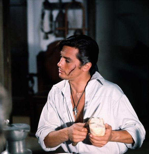 Ален Делон в фильме Черный тюльпан, 1964
