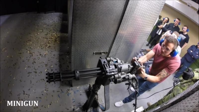 Стрельба из различного огнестрельного оружия (от пистолета до пулемёта)