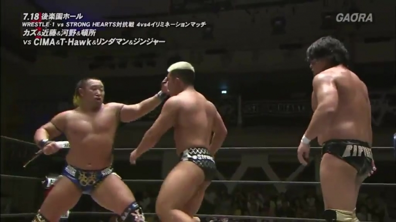 Jun Tonsho, Kaz Hayashi, Masayuki Kono, Shuji Kondo vs. CIMA, El Lindaman, Gao Jingjia, T-Hawk (WRESTLE-1 - 2018 Tour Symbol)
