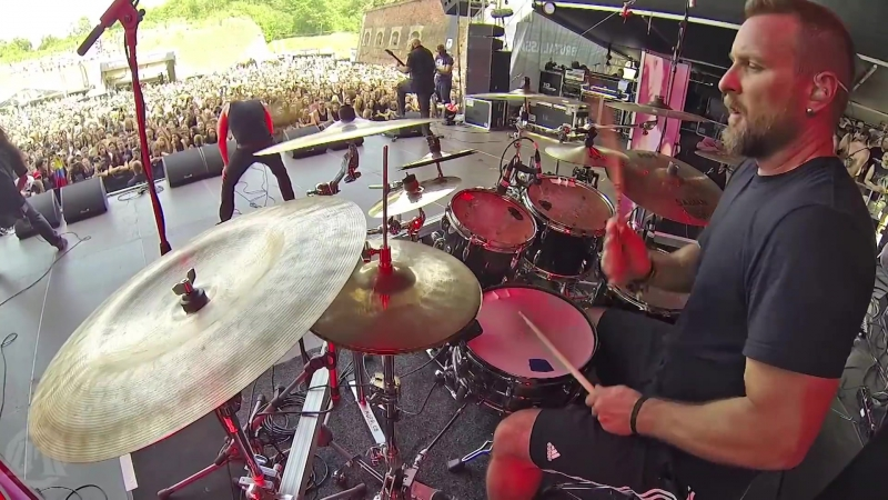 CRYPTOPSY - Benedictine Convulsions (Drum Playthrough By Flo Mounier) (Live At Brutal Assault 2017) (vk.comafonya_drug)