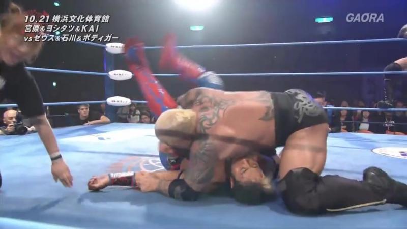 KAI, Kento Miyahara, Yoshitatsu vs. Shuji Ishikawa, The Bodyguard, Zeus (AJPW - Jun Akiyama Takao Omori 25th Anniversary)