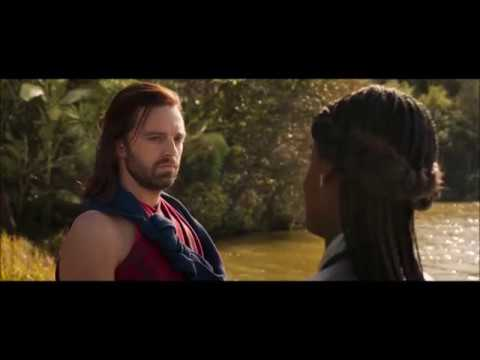 HD Black Panther End Credit Scene with Bucky Barnes