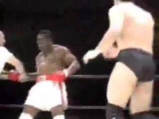 Тревор Бербик (тот который победил Муххамеда Али и огреб от Тайсона) против Набухико Такады, чемпиона Бушидо. Бой по правилам ММ