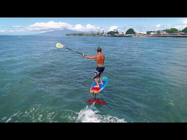 Hydrofoil Surfing Pump filmed on Drone - Zane Kekoa Schweitzer Breaking Foil Pump Records
