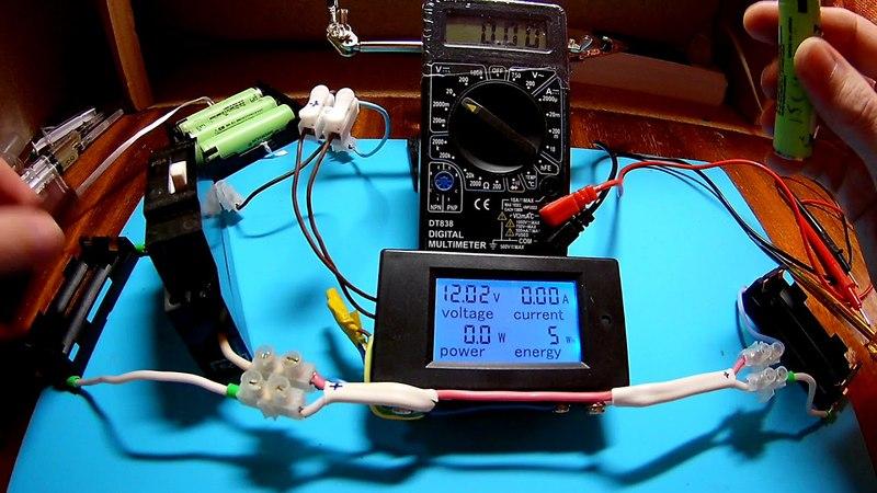 Замер тока при параллельном соединении li-ion 18650