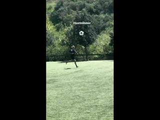 March 17: Fan taken video of Justin playing soccer in Playa Vista, California.