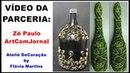 Como fazer garrafa decorada garrafãoo by FláviMartins Zé Paulo 106