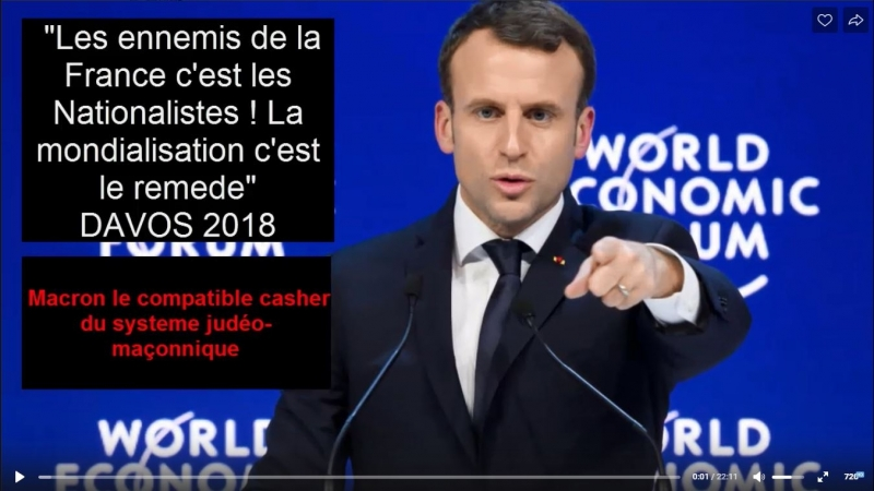 Davos 2018 MACRON 100% CASHER
