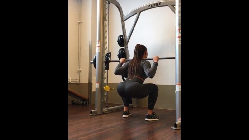 Тренировка Кристины Стром Фьере