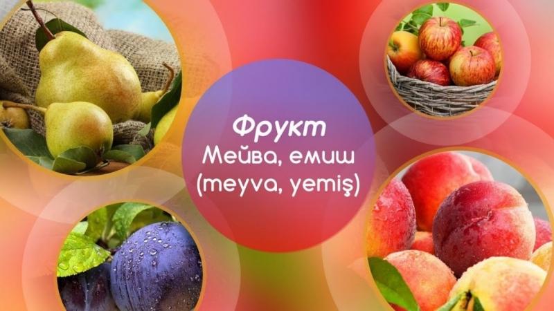 5 главных слов Фрукты мейва емиш meyva yemiş