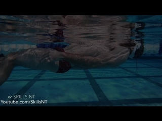 How to float in the swimming pool. Physics of swimming. Part 1