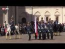 Первая в этом году церемония развода пеших и конных караулов Президентского полка Соборная площадь Кремля