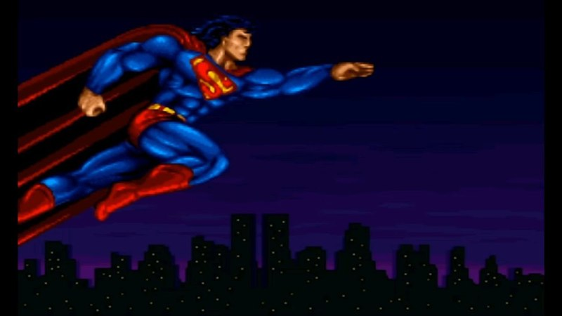 The Death and Return of Superman. SNES. Walkthrough