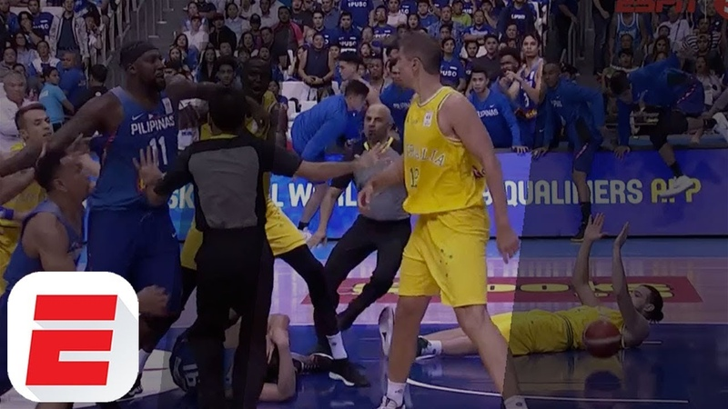Huge Basketball Fight Breaks Out Between Australia And Philippines