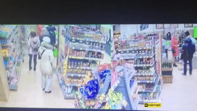 Воровка в магазине Ярче. Кемерово