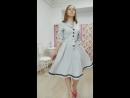 Платье Алиса с карманами рукавами воротником