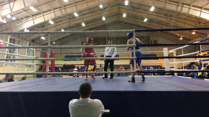 Шитов Денис полуфинал синий Второй открытый областной турнир по боксу памяти Л Б Бутовского г Балаково