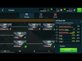 Тактико-технические характеристики танков