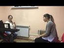 Пробное занятие с Дашей Яровой в школе вокала НотаФА .Ищем резонаторы.