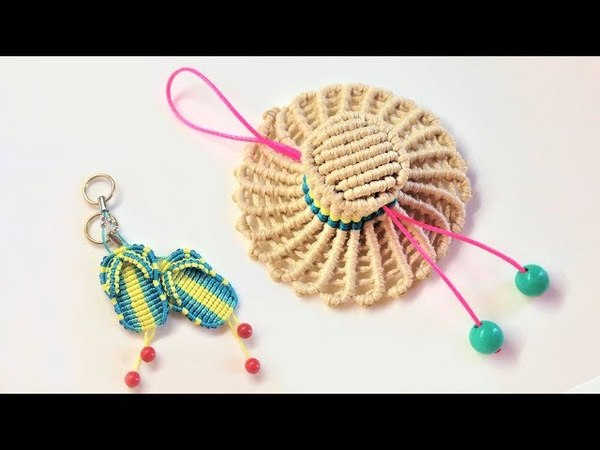 How to make a 3D macrame hat Easy macrame tutorial key chain Hướng dẫn thắt móc khóa mũ rơm Luffy
