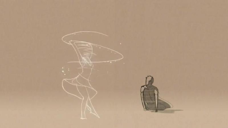Очень чувственный и прекрасный нарисованный танец о любви (мульт)