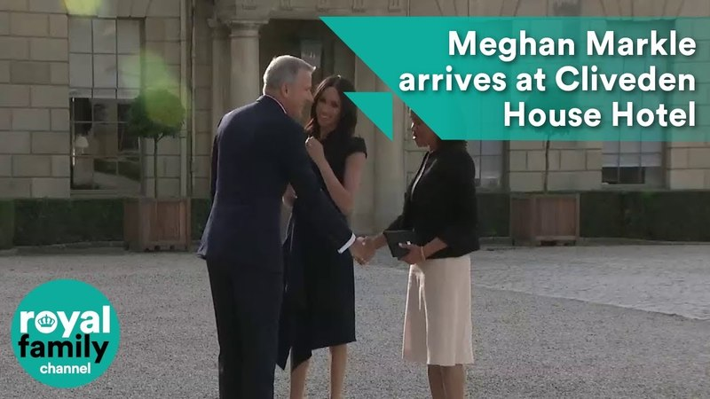 Meghan Markle arrives at Cliveden House Hotel with Mum ahead of Royal Wedding
