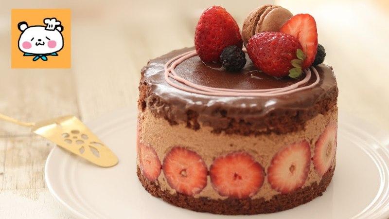 いちごチョコチーズケーキ とろけるリッチな濃厚ガナッシュ♡Strawberry Chocolate Chee
