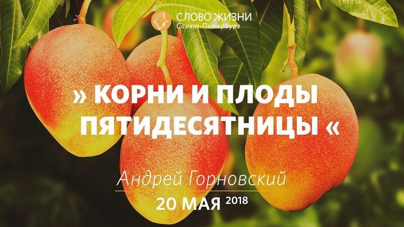 Корни и плоды Пятидесятницы - Андрей Горновский, Слово Жизни, г. Санкт-Петербург