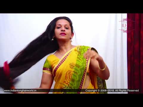 New Rapunzel Padmini's Hair Brushing Flaunting Hair Play With Her Healthy Silky Mane