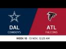 NFL 2017 / W10 / Dallas Cowboys - Atlanta Falcons / CG / EN