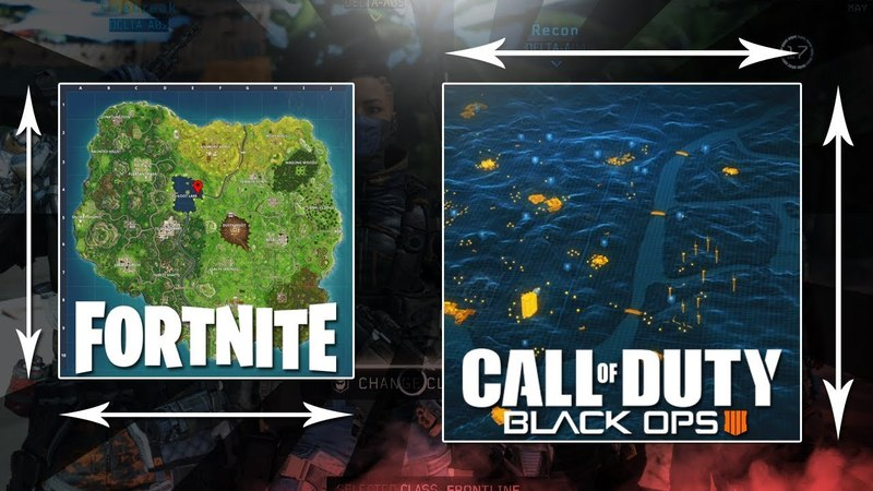 Black Ops 4 Battle Royale Blackout Map Size vs. Fortnite! (BO4 Gameplay) VGTimes.Ru
