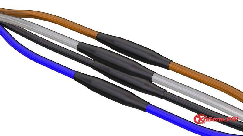 Монтаж соединительной муфты для кабелей с пластмассовой изоляцией без брони