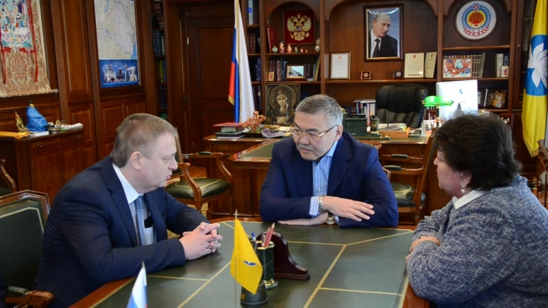 Встреча А. Орлова с вице-президентом Торгово-промышленной палаты РФ Максимом Фатеевым