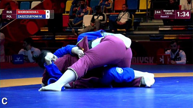 Round 3 Women-Gi - 71 kg: I. SHOROKHOVA (RUS) v. M. ZASZCZUDŁOWI (POL)