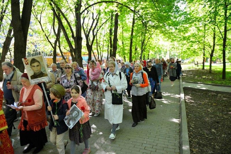 Прихожане храма на Ивановской провели акцию «Бессмертный полк»