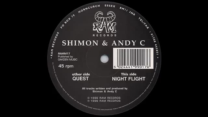 DJ.SHIMON feat. ANDY C. - NIGHT FLY (SIDE-A. RAM RECORDS, ESSEX, ENGLAND.UK-1998)