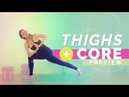 Power Yoga Flow for Core Strength and Thigh Sculpting 15 min Core Work and Eagle Crunches