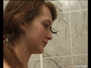 Two very horny lesbian teenagers enjoy sharing a shower - naked hot teens
