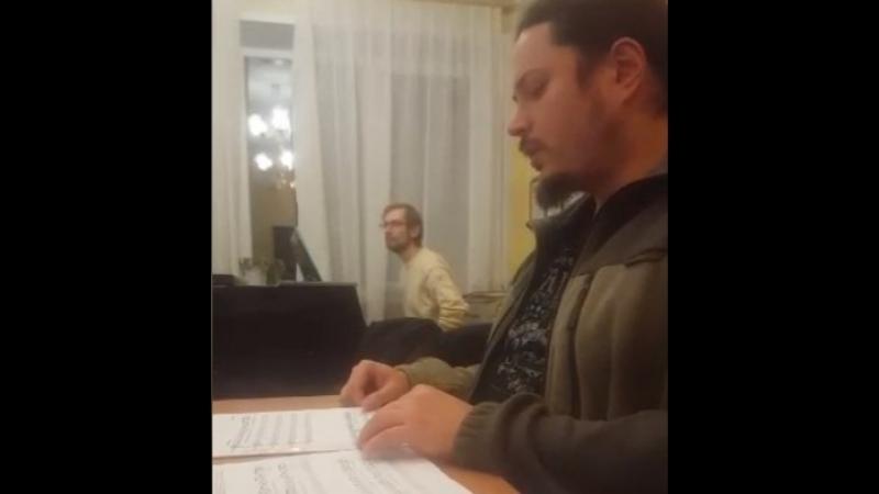 Репетиция концерта о. Фотия в Обнинске 05.03.2018