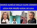 Marco Aurélio Mello perde a paciência de vez e culpa Cármen Lúcia por prisão de Lula.