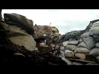 Мгновенная «ответка» украинскому снайперу на Донбассе (ВИДЕО)
