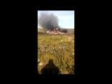 Видео с места крушения вертолета Ми-8 в Красноярском крае